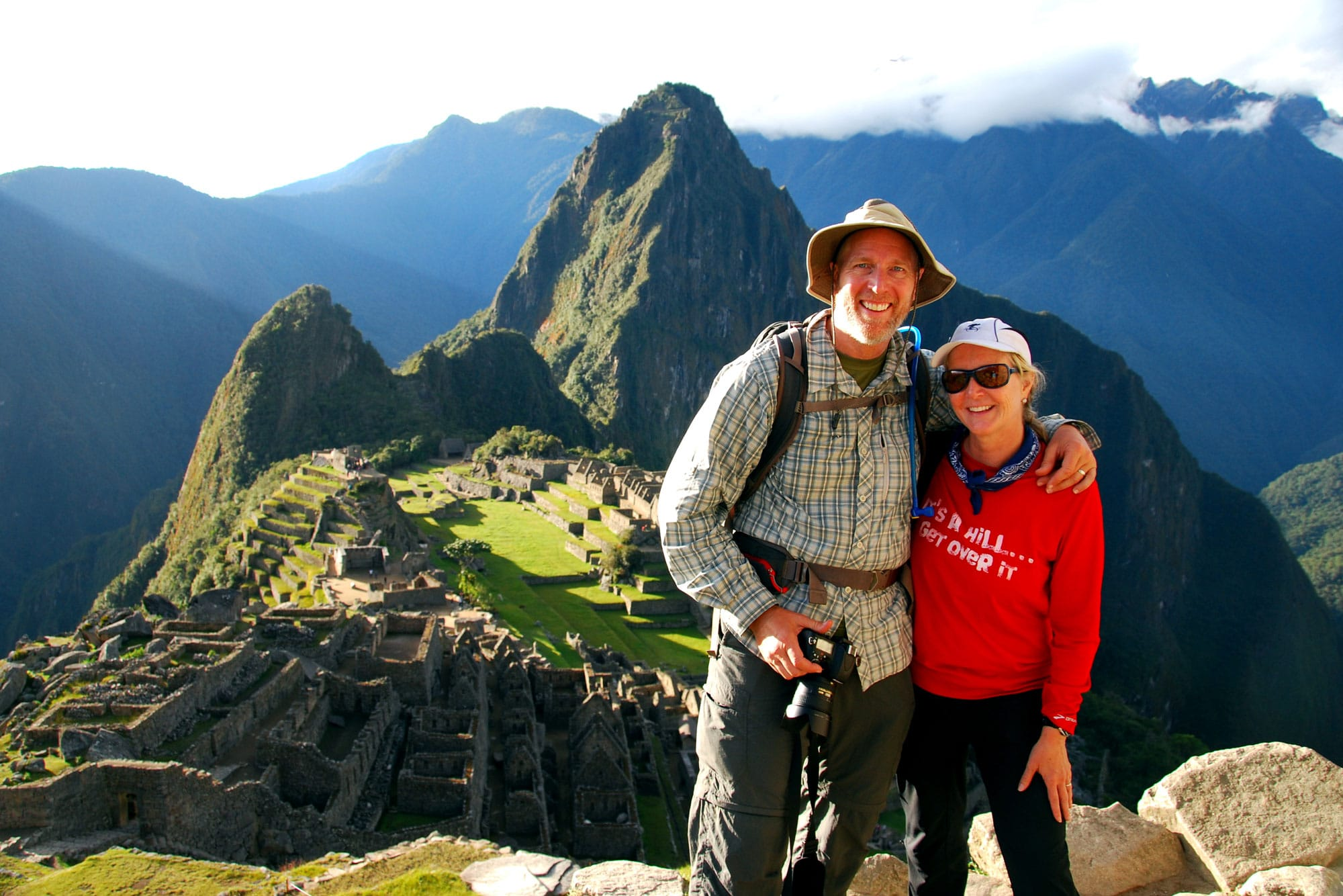 June 2013 — Our most extreme hike to date; after five days and 30+ miles of some tough hiking in the High Andes of Peru, we made it to Machu Picchu!